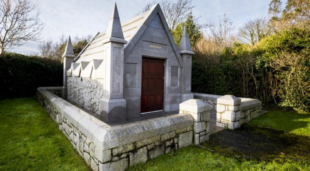 SUNDAY LIFE NEWS - The burial mausoleum of the Hastings family which sits on the grounds of Down Cathedral. Hotelier Sir William Hastings, know to his friends as Bill, passed away on Friday 15th of Dec 2017 at the age of 89. It is thought that his remains will be interred in the family mausoleum in the coming days. Pictured Sat 16th Dec 2017 by Liam McBurney/RAZORPIX