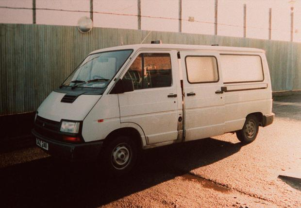 Prison van in which Billy Wright was murdered