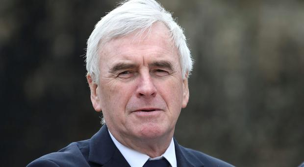 Shadow Chancellor John McDonnell who has said he would be