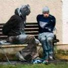 James White and Jason Lydiard tied to a bench in Mullaghbawn, Co Armagh