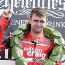 William Dunlop pictured after victory at the North West 200 back in 2012.