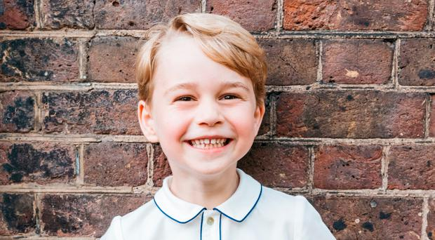 The official image that was released to mark Prince George's birthday