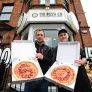Martin Conlon (left), co-owner of The Pizza Co and The Chip Co, with Matthew Stevenson, manager of The Pizza Co in Botanic