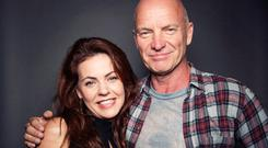 Sting, Rachel Tucker...10211419429, 21334631, In this Oct. 21, 2014 photo, Grammy Award winning singer-songwriter Sting poses for a portrait with Rachel Tucker, who makes her Broadway debut in Sting's musical