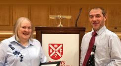 Renee (Sarah) Starbuck, a long-serving employee of the University, recently won 'Cleaning Operative of the Year' in the Education category at the regional awards of The British Institute of Cleaning Science (BICSc), held in Belfast City