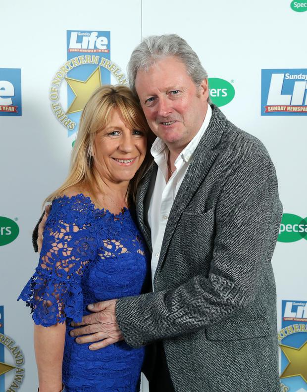 Charlie Lawson and Debbie Stanley pictured at the 2018 Spirit of Northern Ireland Awards... Press Eye - Belfast - April 20, 2018