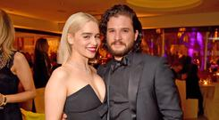 Kit Harington and Emilia Clarke