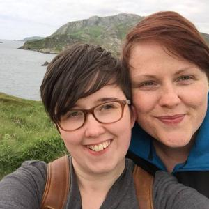 Lyra McKee with her partner Sara Canning