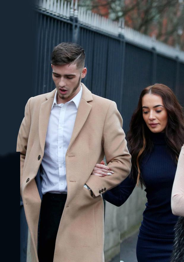 Jay Donelly and partner Rachael Campbell