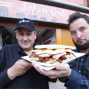Sunday Life, reporter John Toner took the giant soda and fry challenge at Safari Grill in Banbridge.