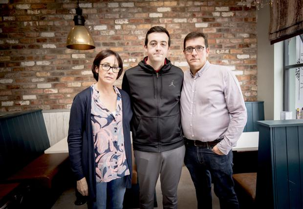Marie and Michael Cafolla with their son Thomas in Newtownards on September 17th 2018 (Photo by Kevin Scott for Belfast Telegraph)
