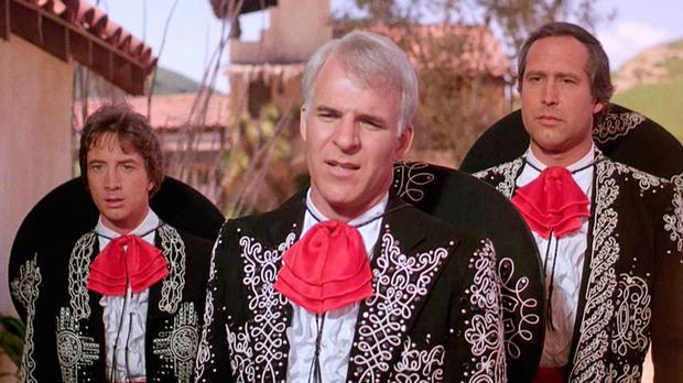 Steve Martin and Martin Short in ¡Three Amigos! (1986)