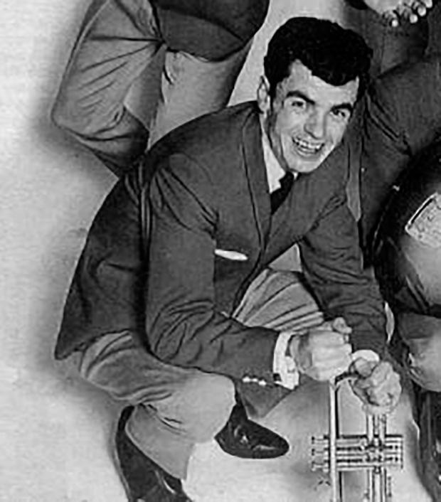Newry man Luke Burke, when he played trumpet in the Hilton Showband