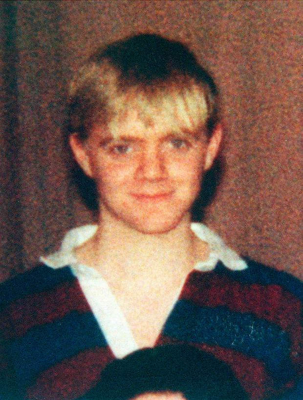 PACEMAKER BELFAST 21/07/98 Thomas Robert Garfield Gilmour (23) from Ballymoney Co Antrim who was sentenced to three life sentences for the murder of the Quinn children in Ballymoney in July 1998. THIS SCHOOL PICTURE WAS TAKEN IN 1990 PICTURE COPYRIGHT PA
