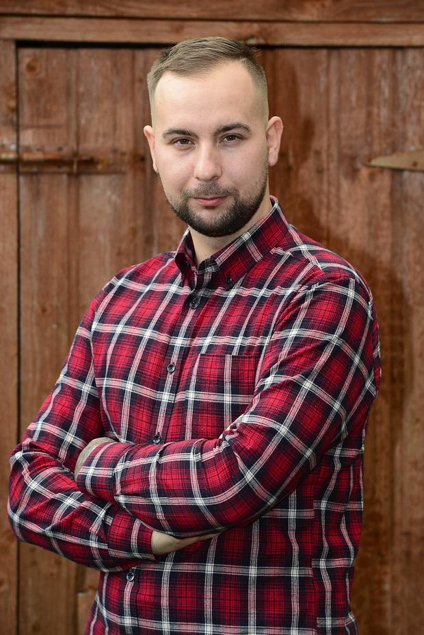 PACEMAKER BELFAST 11/11/2019 Damian Anysz pictured at his home in Magharefelt, Northern Ireland. Picture By: Arthur Allison/ Pacemaker.