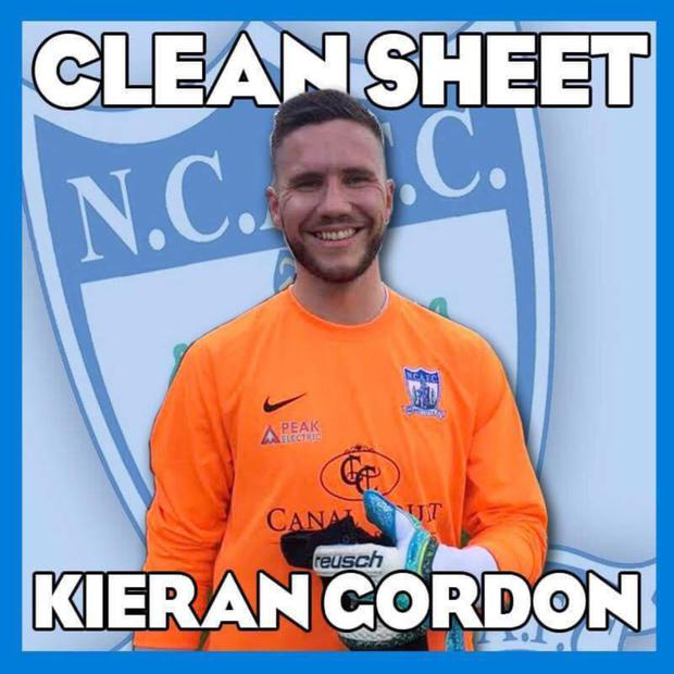 Kieran Gordon when he played for Newry City football club.