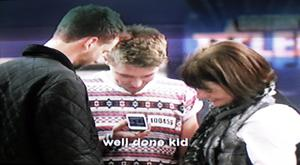 Pictured with his brother and mother, Jordan O'Keefe from Derry rings his dad after appearing on Britain's Got Talent. Jordan got four yes's from the judges 21-4-13