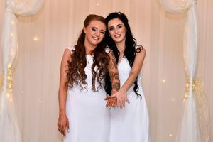 Robyn and Sharni Edwards-Peoples tied the knot earlier this year