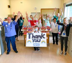 Derry YouTuber Adam B drops off hampers to staff at Altnagelvin Hospital in the big 20k giveaway where Adam travelled around Derry in an ice cream truck giving gifts to people he believed deserved them.
