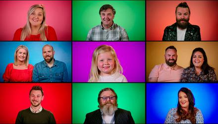 TONGUE IN CHEEK: Some of the stars of There's No Place Like Tyrone