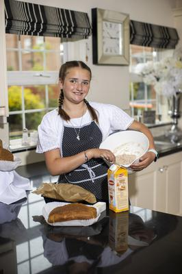 Eleven-year-old Zara Burney Keatings, from Moira, has seen her home-based business Use Your Loaf grow from a few batches of bread for families and friends to several hundred to meet demands of repeat customers. (Liam McBurney/RAZORPIX)