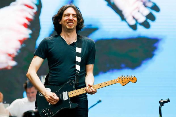 Gary Lightbody performs on stage during the Snow Patrol concert. (Photo by Alexandre Schneider/Getty Images)
