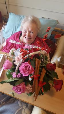 Mary McMullan MBE (93) Covid-19 survivor on her 93rd birthday earlier this month