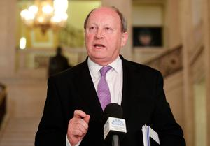 TUV leader Jim Allister pictured in the Great Hall in Parliament Buildings at Stormont.