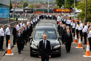 Guard of honour for Bobby Storey