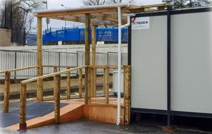 Pods have been set up to test people who think they have the coronavirus (COVID-19) at the Royal Hospital near the entrance of the A&E department.