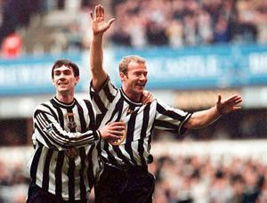 Keith Gillespie and Alan Shearer