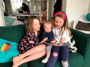 Sadie Sullivan and her two younger sisters, Grace (five) and Meabh (15 months)