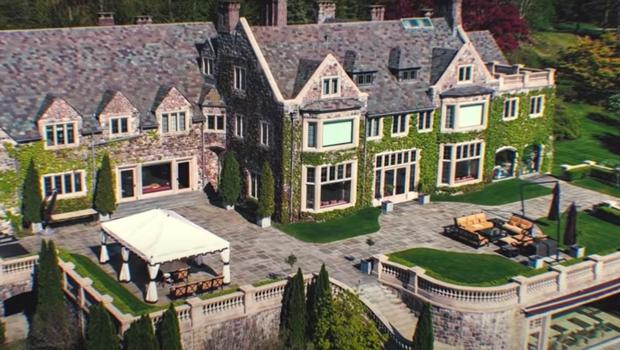 SPRAWLING: Liam's mansion in upstate New York