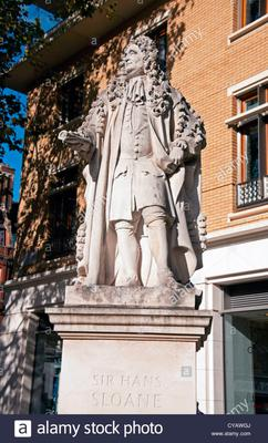 The statue of Sir Hans Sloane
