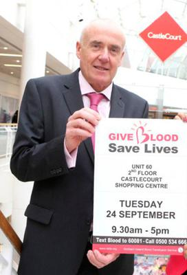 Paul McElkerney from Northern Ireland Blood Transfusion Service.