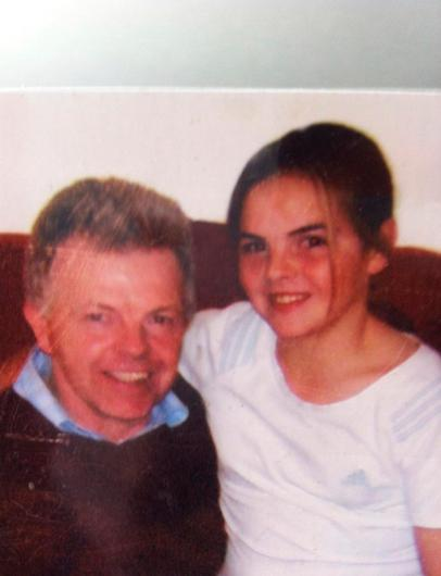 Aoife Lennon and her dad