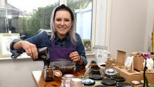 THE DAILY GRIND: Orla McKeating experimented for months before launching her scrub