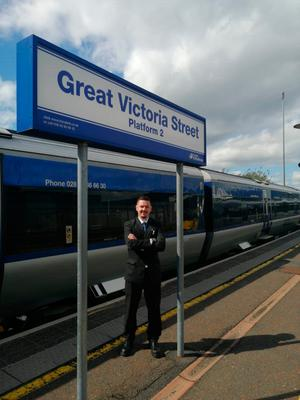 Lockdown Legends. Ross Early - Translink Station Inspector for Great Victoria Train Station (NI Railways)