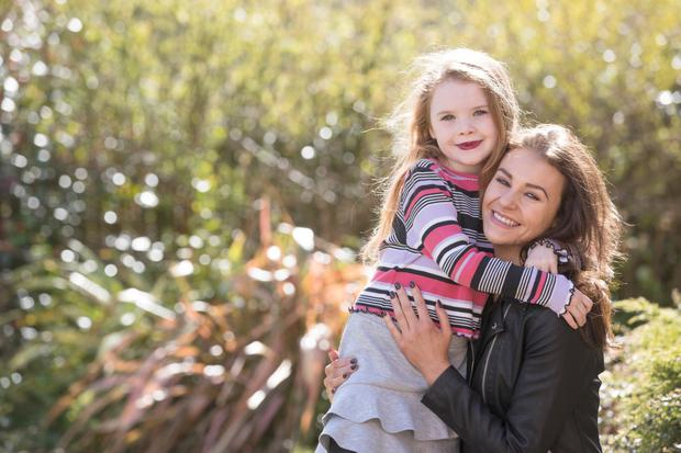Sunday Life. Actress Kerri Quinn and daughter Libby Picture Colm O'Reilly Sunday Life 25-04-2018