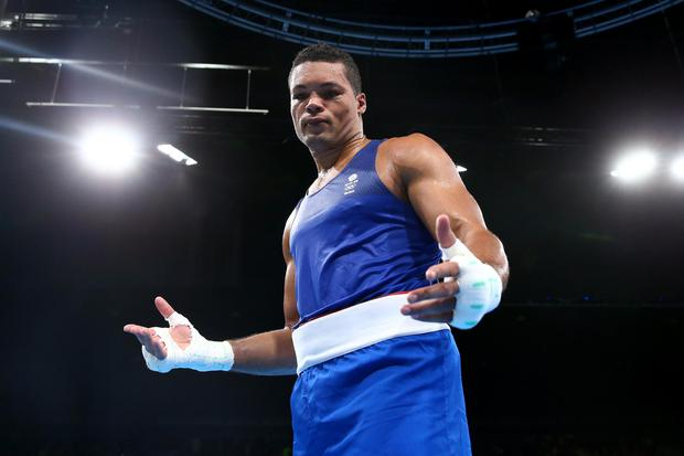 Joe Joyce shows his dejection after after defeat in the men's super-heavyweight final in Rio