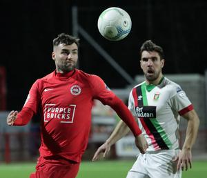 Johnny McMurray (left) is yet to be offered a new contract at Larne with his current deal expiring in the summer.