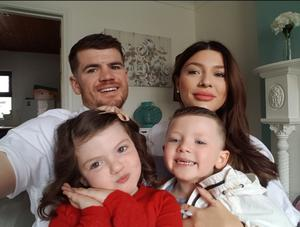 Paddy Gallagher with his family.