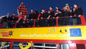 The Crues celebrated winning the 2012 Setanta Cup in style.