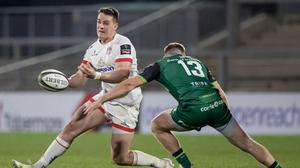 James Hume and his Ulster team-mates are preparing to face Connacht on Saturday. Pic: INPHO/Morgan Treacy