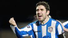 Stephen Carson during his time at Coleraine
