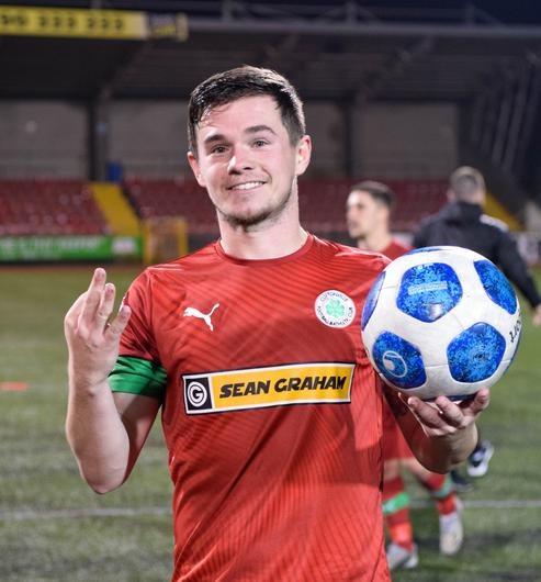 Michael McCrudden was Cliftonville's hero.