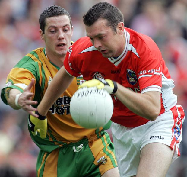 Oisin in action for Armagh