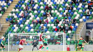 Windsor Park during Friday night's Irish Cup final