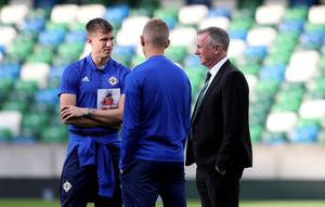 Michael O'Neill and Paddy McNair (left) during their Northern Ireland days