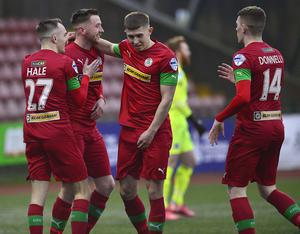 Ronan Doherty's first goal for Cliftonville was enough to seal the win.